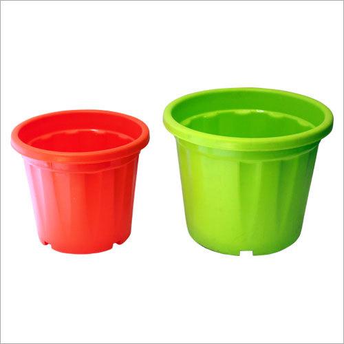 Decorative Round Plastic Flower Pot