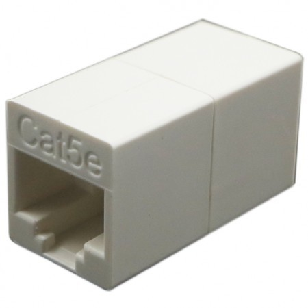 Cat5e UTP 180 Degree RJ45 Coupler