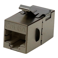 Cat. 6A STP 180 Degree Inline Coupler