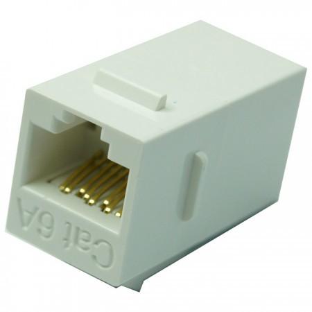 Cat6A UTP 180 Degree Inline Coupler