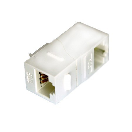 Cat6A UTP 90 Degree Inline Coupler