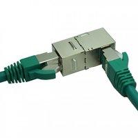 Cat6A FTP 90 Degree Inline Coupler