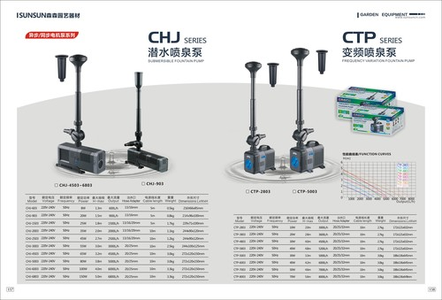 submersible fountain pump CHJ series