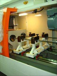 水平的中心孔深钻孔机器CNC