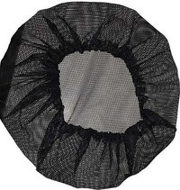 S Protection Hair Net Cap Men/Women Weaving Stretch Breathable Black