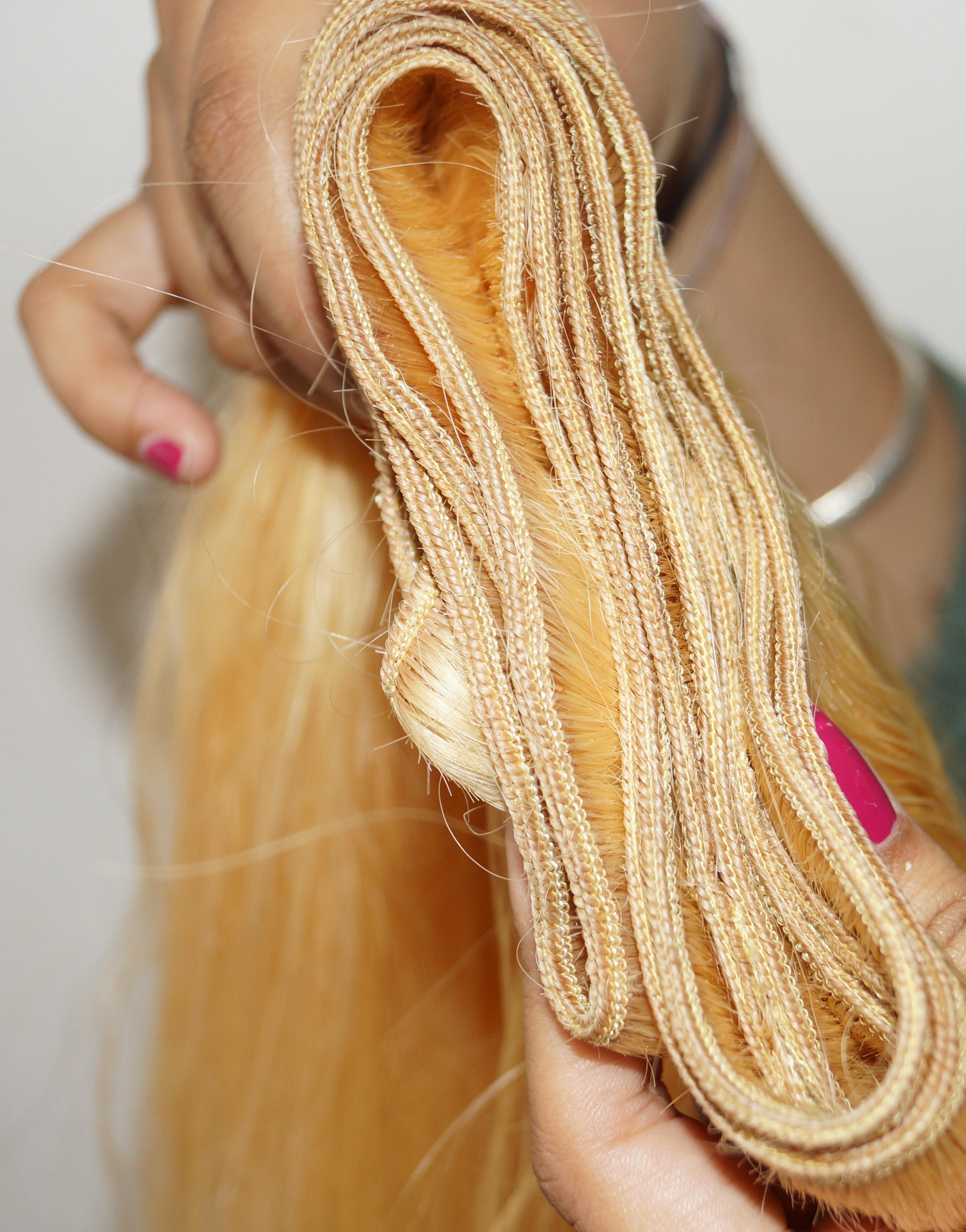 Straight Blonde Hair Extension
