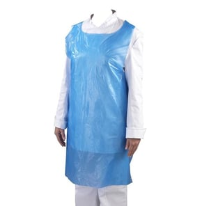 S Protection Disposable Waterproof Apron for Lab, Hotel, Cafeteria, Deli or Restaurant