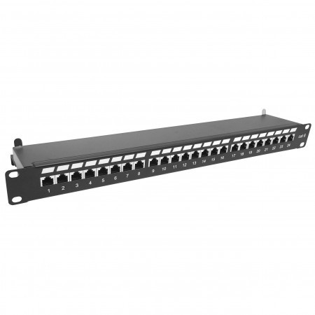 Cat6 STP 1U 24Port Patch Panel Krone Type