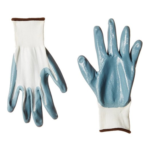 S Protection Nitrile Coated Gloves, Medium, Grey
