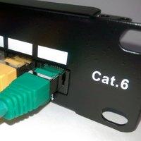 Cat6 UTP 90° 1U 24PORT RJ45 Patch Panel