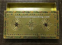 Golden Wedding Saree and Lehenga Packing Box