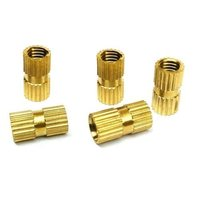Brass Straight Knurled Inserts