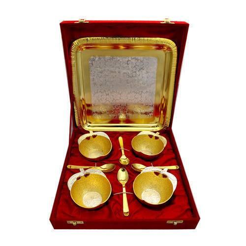 Silver Coated Apple Shape Bowl Set