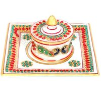 Marble Dry Fruit Tray 6 inch