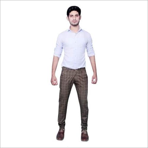 Mens Cotton Checks Print Pant