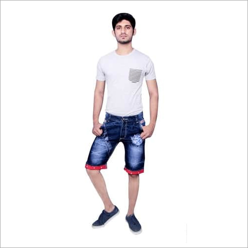 Mens Cotton Denim Shorts