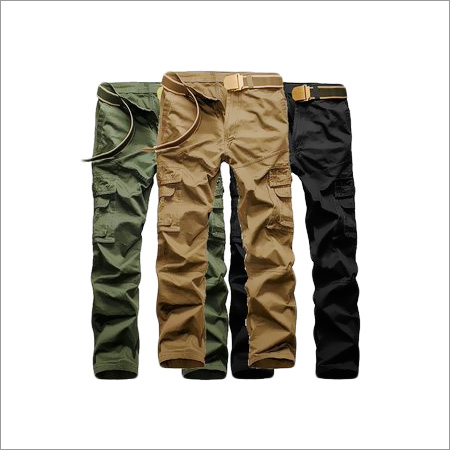 Mens Cotton Cargo Pants