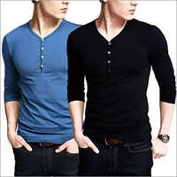 Men's Henley Neck T-Shirt