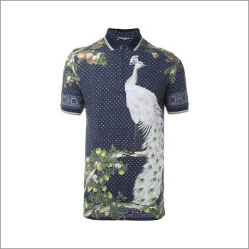 Men's Designer Print Polo T-Shirt