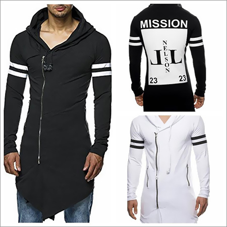 Mens Zipper T-Shirts Long Sleeve Breathable