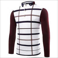 Mens Checked Polo T-Shirts