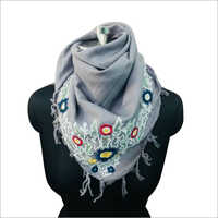 100% Cotton Embroidered Women Scarf