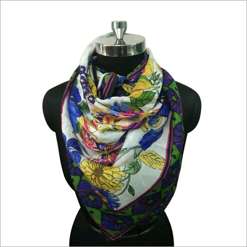 100% Silk Floral Print Scarf