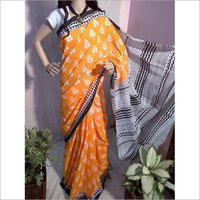 Pure Cotton Mulmul Printed Saree Without Blouse