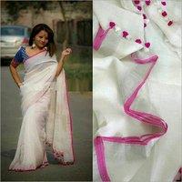 Pure Linen Saree