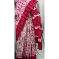 Pure Cotton Mulmul Batik Saree