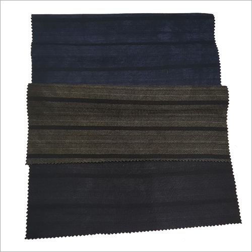 Indigo Cotton Stripe Fabric