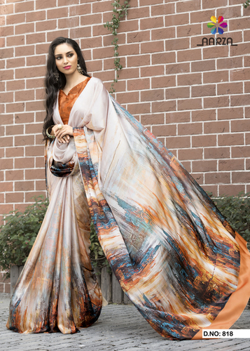 Printed Art Silk Saree (Pure XTC)