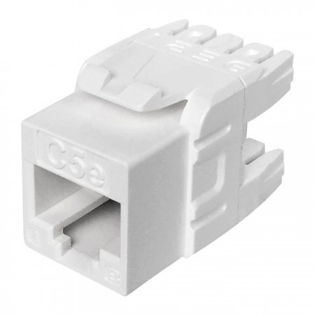 Cat5E UTP 180 Degree 110 Punch Down Keystone Jack