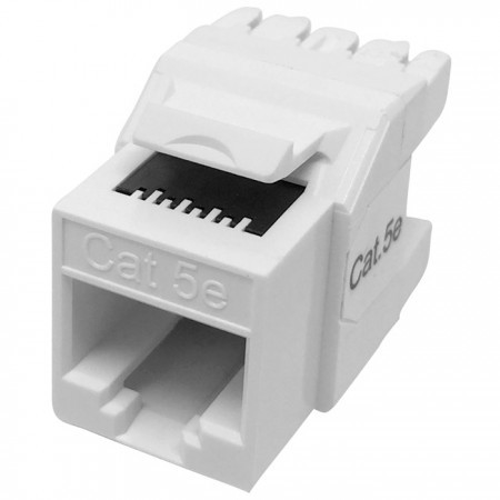 Cat5E UTP 180 Degree Keystone Jack