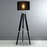 Tripod Floor Lamp Retro Vintage Wooden Tripod Lamp