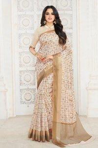 Traditional Wear Tussar Silk Saree
