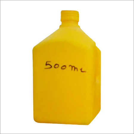 500 Ml Yellow Plastic HDEP Bottle