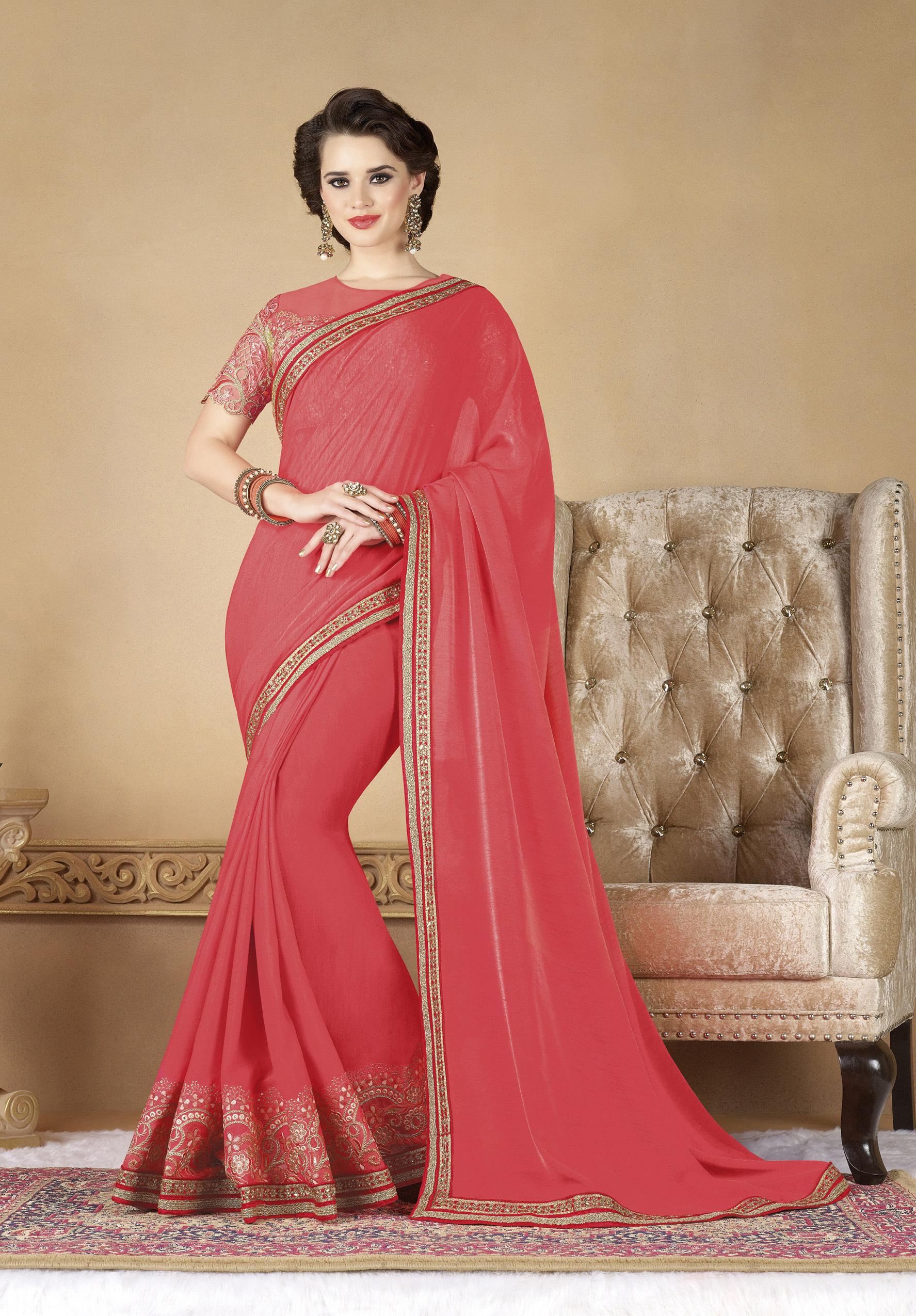 Designer Fancy Party Wear Saree