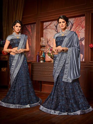 Designer Heavy Lehenga Style Saree