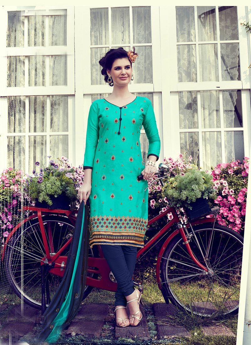 Embroidery Work Unstitched Salwar Suits