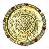Shree Yantra Gold Plated Coin