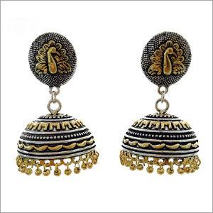 Double Tone Earrings