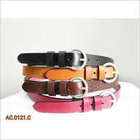 Leather woman belts