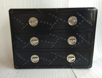 Aviator Black Drawer Chest
