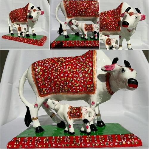 meenakari cow with baby