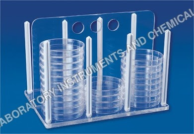 RACK FOR PETRI DISHES
