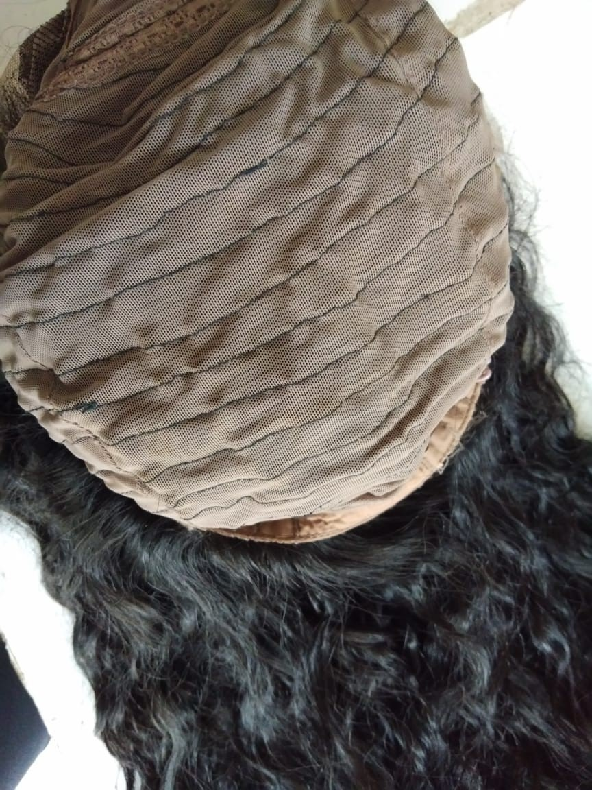 Natural Curly Front Lace Curly Wig