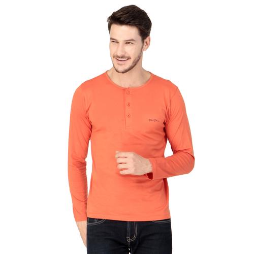 Orange colour plain T-shirt