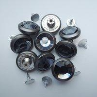 19mm matt pewter with gray glass stone shank button (HD2223-18)