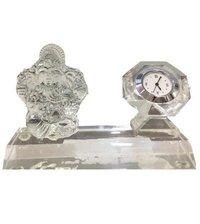 Crystal Ganesh with Clock